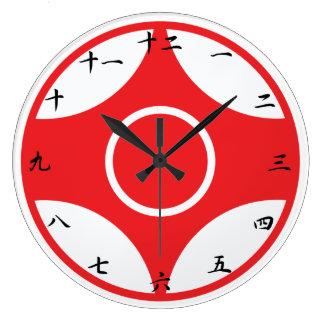 Kyokushinの空手のKankuの時計 ラージ壁時計
