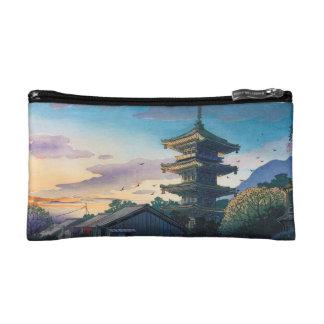 Kyorakuの魅力のNomura Yasakaの塔の日光 コスメティックバッグ