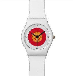 Kyrgyzstaniの旗 腕時計