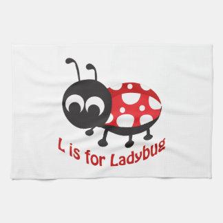 Lはてんとう虫のためです キッチンタオル