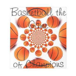 lはバスケットボールを美しいチャンピオンのゲーム愛します ノートパッド