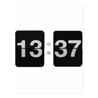 L33Tの時計の13:37 ポストカード