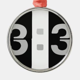 L33Tの時計の13:37 メタルオーナメント