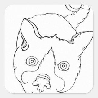 (L.A.)禅の子猫 スクエアシール