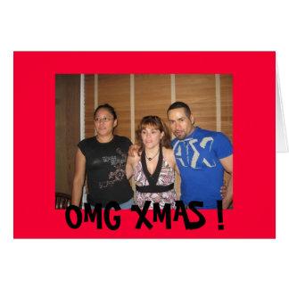 l_f1be695117ffebf84bcdf935c2c12edbのOMGのクリスマス! カード