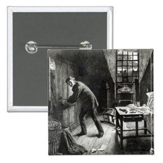 、L. Flameng著刻まれて台無しになるべき、道1878年 5.1cm 正方形バッジ