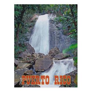 Laのコカノキの滝、プエルトリコ ポストカード