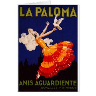 Laのパロマのヴィンテージのアルコール飲料の広告 カード