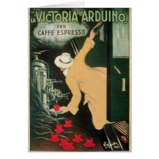 LaのビクトリアArduinoヴィンテージのコーヒー飲み物の広告の芸術 カード