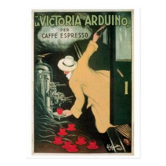 LaのビクトリアArduinoヴィンテージのコーヒー飲み物の広告の芸術 ポストカード