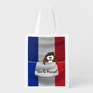 laのフランスのviveフクロウ エコバッグ
