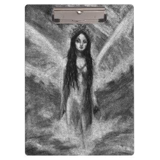 Laのルナの暗い天使の妖精の元の芸術のクリップボード クリップボード