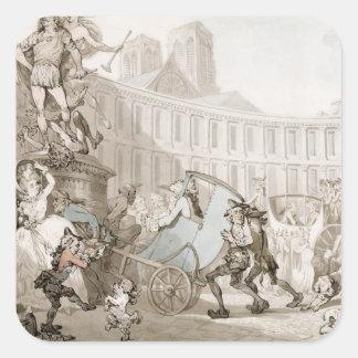 Laの場所des Victoires、パリ、c.1789 (ペンとインク スクエアシール