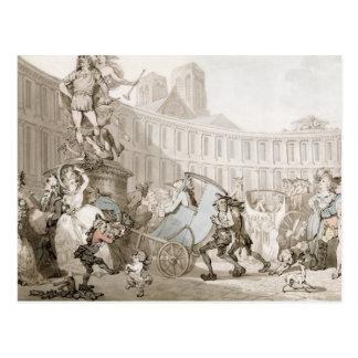 Laの場所des Victoires、パリ、c.1789 (ペンとインク ポストカード
