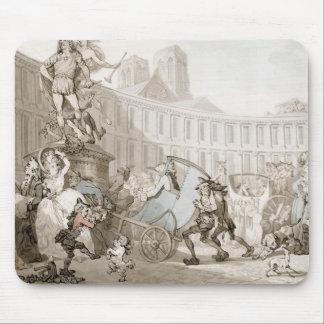 Laの場所des Victoires、パリ、c.1789 (ペンとインク マウスパッド