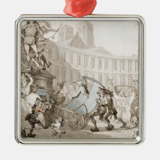 Laの場所des Victoires、パリ、c.1789 (ペンとインク メタルオーナメント