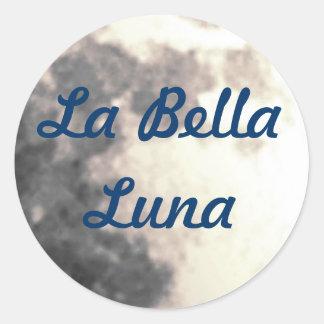 LaのBellaルナのステッカー ラウンドシール