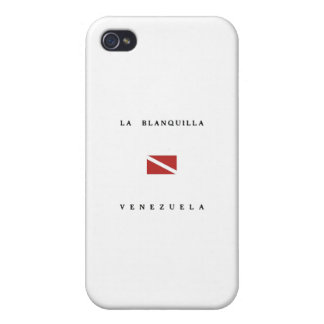 LaのBlanquillaベネズエラのスキューバ飛び込みの旗 iPhone 4/4S カバー