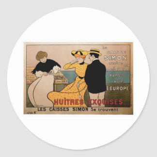 LaのCaisseサイモンのヴィンテージの食糧広告の芸術 ラウンドシール