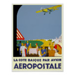 LaのCoteのバスクの標準Avion ポスター