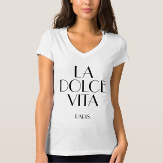Laのdolceのvita、パリ Tシャツ