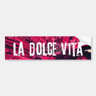 LaのDolce Vitaのガーベラのデイジー バンパーステッカー