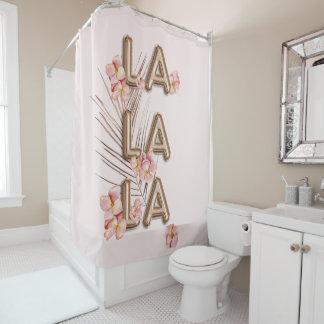 LAのLAのLA-のガーリーで粋なRoseGoldの花の刺激 シャワーカーテン