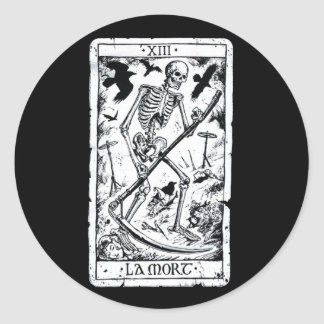 LaのMortの占いカード ラウンドシール