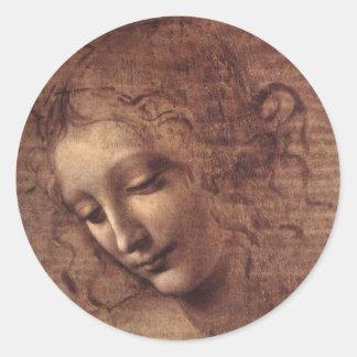 LaのScapigliataの女性頭部 ラウンドシール