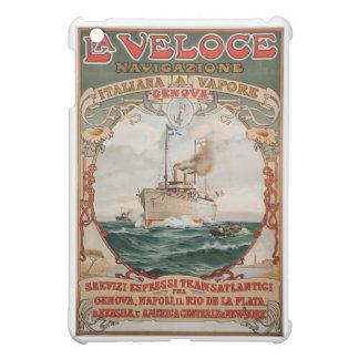 LaのVeloceの蒸気の船ポスター iPad Miniカバー