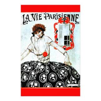 """LaはParisienneの""""パリの生命"""" - 1920カバーを竸います 便箋"""