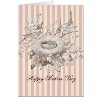 La小柄いFamille、ピンクおよびクリーム、母の日 カード