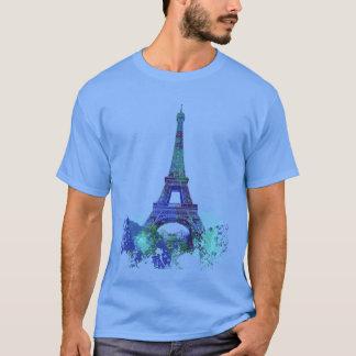 La旅行のエッフェル色のしぶき Tシャツ