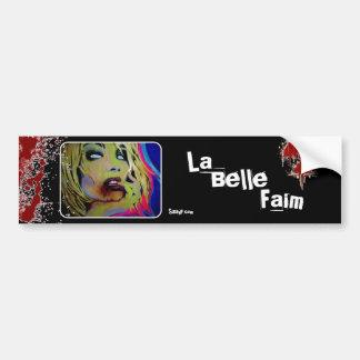 「La美女Faim」の(ゾンビ)バンパーステッカー バンパーステッカー