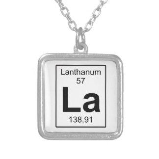 La -ランタン シルバープレートネックレス