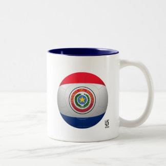 La Albirroja -パラグアイのフットボール ツートーンマグカップ