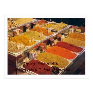 La Boqueria -あなたの食事のためのスパイス ポストカード