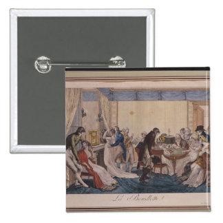La Bouillotte 1798年 5.1cm 正方形バッジ