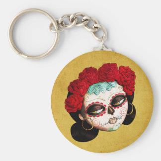 La Catrina - Dia de Los Muertos Girl キーホルダー