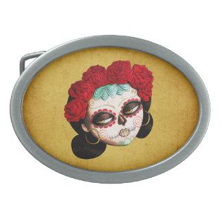 La Catrina - Dia de Los Muertos Girl 卵形バックル