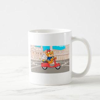 La Dolce Vita Romana - Nanoくま及び後輩猿 コーヒーマグカップ