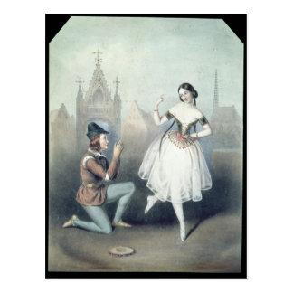 La Esmeralda': Carlotta Grisi及びジュールPerrot ポストカード