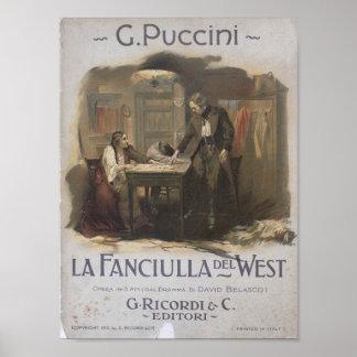 La Fanciulla del West Opera ポスター