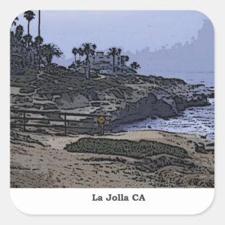 La Jollaの入江の眺め スクエアシール