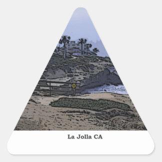 La Jollaの入江の眺め 三角形シール