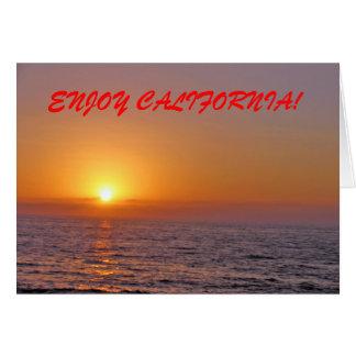 LA JOLLAの日没、楽しむなカリフォルニア! カード