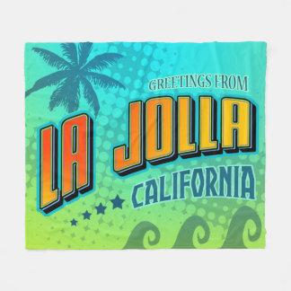 La Jollaカリフォルニア毛布 フリースブランケット