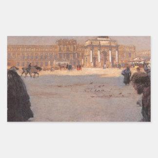 La Place du Carrousel、パリ: 台なし 長方形シール