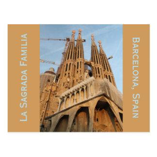 La Sagrada Familiaのバルセロナスペインの郵便はがき ポストカード