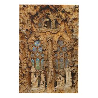 La Sagrada Familia. ウッドウォールアート